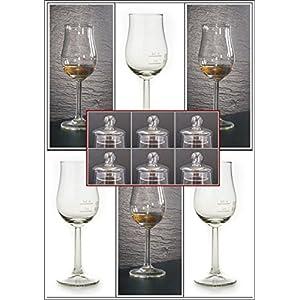Whisky Gläser 6 Bugatti Nosing Gläser im Originalkarton mit 6 Glas-Knopfdeckel