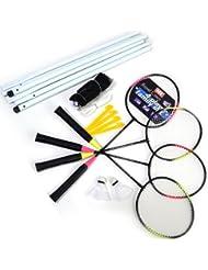 MY - Set de Bádminton - incluye 4 raquetas, red, volantes