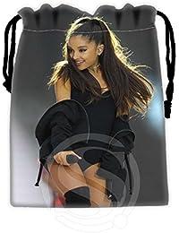 Red : Best Singer Ariana Grande 02 Drawstring Bags Custom Storage Printed Receive Bag Compression Storage Bags...
