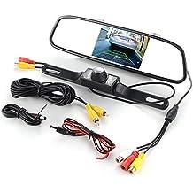 Monitor de espejo retrovisor TFT con clip de 4.3 pulgadas, pantalla LCD automática, reproductor