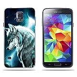 FUBAODA Funda Samsung Galaxy S5 /S5 Neo /S5 LTE + /S5 Duos Carcasa de Silicona Transparente...