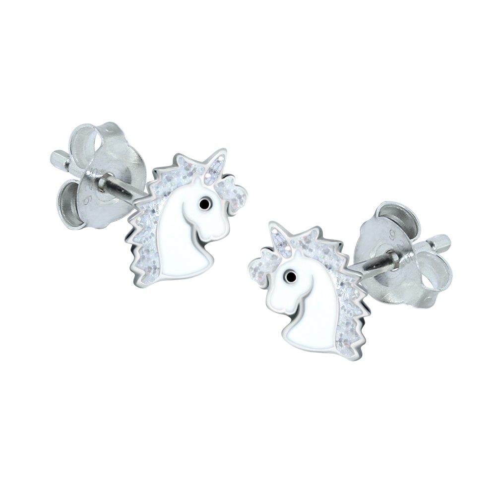 Sterling Silver Unicorn Earrings – Silver Sparkle Gift