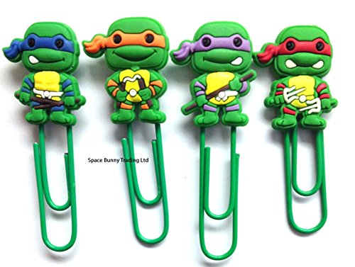teenage-ninja-turtles-buroklammer-lesezeichen-set-uk-versand