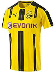 PUMA Herren Trikot BVB Home Replica Shirt with Sponsor Logo