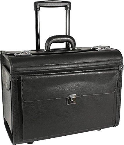RAUMWUNDER Business Laptop Notebook Trolley Trolleytasche Bürotasche mit Laptopfach 17 Zoll Koffer Trolley Rollen Bord Gepäck