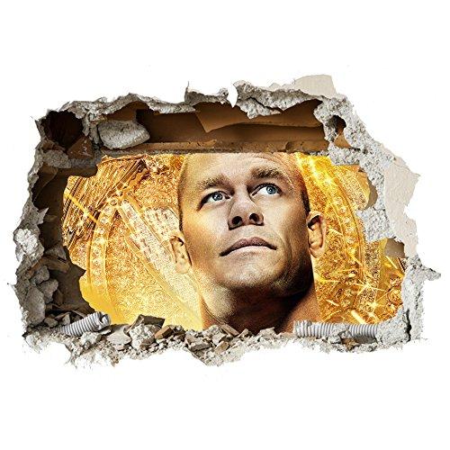 Superstar Gürtel (WWE John Cena Smash Wrestling 700mm Wandtattoo Vinyl Art Wand für Autos Motorräder Wohnwagen Häuser customise4utm, WWE John Cena Smash, 700 mm)
