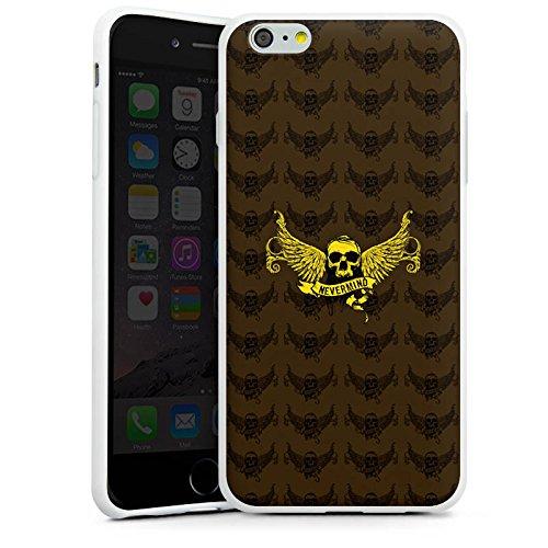Apple iPhone X Silikon Hülle Case Schutzhülle Gold Skull Nevermind Silikon Case weiß