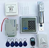 NAVKAR Imported 500-user RFID Access Control System Kit w/ Electric Lock ID Keyfob Doorbell