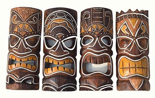 4-Tiki-Mscaras-30cm-IM-HAWAI-Estilo-Kit-de-4-Mscara-de-madera-Mscara-de-Pared-Mscara-pared-ISLA-DE-PASCUA-sdsee-Karibik