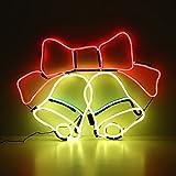 ICOCO Luci Natale Neon Lampada Campana LED 60*44*1.4 cm Decorazione Natale Decorazione per la Festa