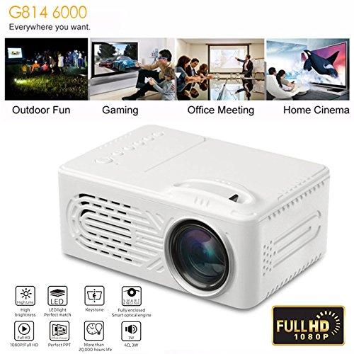Rosepoem 4K 3D Full Hd Projektor 6000 Lumen G814 4: 3/16: 9 Home Cinema Hd Projektor