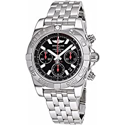 Breitling Men's BTAB014112-BB47SS Chronomat 41 Analog Display Swiss Automatic Silver Watch