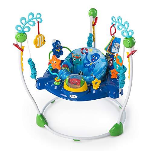 Baby Einstein, Centro Attività Neptune\'s Ocean Discovery con 15 giocattoli interattivi multilingue, luci e musica, altezza regolabile, seduta girevole a 360°