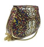 bolso de la honda bolso de embrague de las mujeres, embrague étnico, embrague de la vendimia, bolsos, bolso del metal, bolso del mosaico (Tiles2)