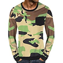 WWricotta Camisetas Hombre Manga Larga Bolsillo Patchwork Camuflaje Gimnasio Polos Fitness Slim Fit Streetwear Camisas Casual