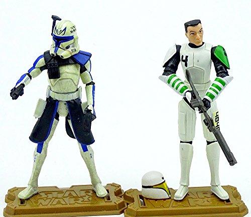 Clone Captain Rex und Clone Trooper Cutup im Set - lose /ausgepackt - Star Wars The Clone Wars Collection von Hasbro (Star Wars Clone Trooper Rüstung)