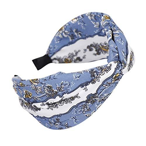 HEVÜY Damen Stirnbänder Einfarbig Stirnbänder Frauen Baumwolle Gestrickte Stirnbänder Dehnbar Haarband Weiche Turban-Kopf-Verpackungs für Alltag Yoga Sport Mode Vintage Satin Applique