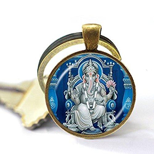 Llavero de elefante hindú Ganesh Ganesha con meditación de Buda
