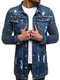 OZONEE MIX Herren Jeansjacke Übergangsjacke Jacke Denim Sweats Sweatjacke Frühlingsjacke Jeans Jacke OT/2020 BLAU XL
