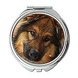 Spiegel, Schminkspiegel, Hund Tiere Welpen Jeder Mann der Beste Freund Haustiere, Taschenspiegel, Tragbare Spiegel