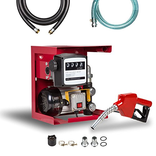 Pompe a Fuel 550 W Pompe gasoil 70 l/min Station gasoil autoaspirante