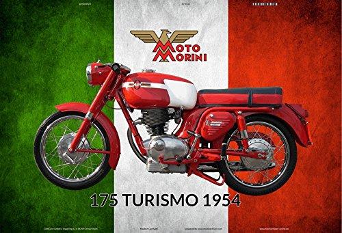 Schatzmix Moto Morini 175 Turismo 1954 Italien Motorrad blechschild