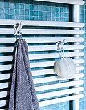 Premium Handtuchhaken für Badheizkörper | Bademantelhaken |Handtuchhalter | Einfache Installation |Fester Halt | Patentiertes Design | 2er Set