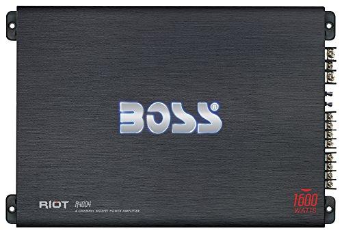 BOSS AUDIO R4004 Riot Serie 4-Kanal Full Range 1600 Watt Klasse A / B Verstärker Endstufe - Audio Boss Car