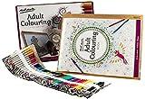 Mont Marte Premium Adult Colouring Malset – 54 teilig – Hochwertiger Inhalt - Farbstifte, Handlettering, Pinselstifte, Malbuch, Holzboard, Malen für Erwachsene - Ideal für Anfänger und Zum Entspannen