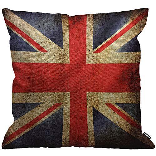 ezug Uk Flag Vintage United Königreich Flagge Kissenhülle Haus Dekorativ Für Männer/Frauen/Jungen/Mädchen Wohnzimmer Schlafzimmer Sofa Stuhl Kissenbezüge 45X45cm ()