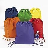 Large Bright Canvas Drawstring Backpacks...