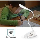 ELINKUME Clip Flexible LED Lampara de Escritorio Plegable, Apta Iluminacion Buena Para Leer el Estudio de Relajación Antes de Acostarse