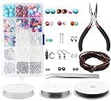Kit para hacer joyas, yotako joyería Finding Set, joyas haciendo cuentas para diario hardcarf S y joyas Reparaciones