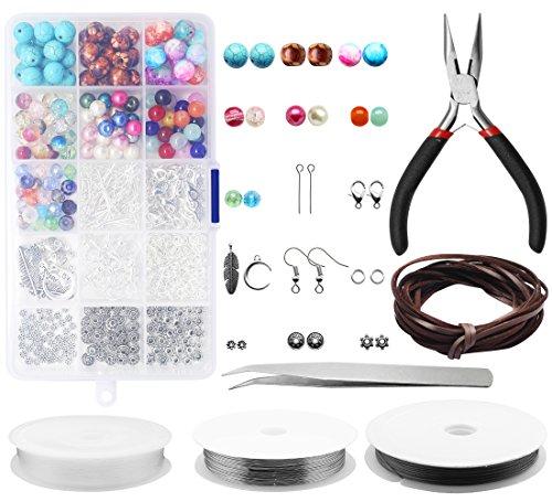 Yotako Schmuck Machen Kit, Jewelry Making Supplies, Schmuck Machen Perlen für tägliche Hardcarf s und Schmuck Reparaturen