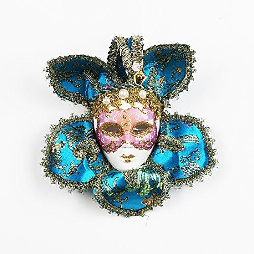 YUFENG Lovely Mini venezianische Maske, Masquerade Party Geschenk Halloween Dekoration Hochzeit Favor Neuheit Party Favor Blau