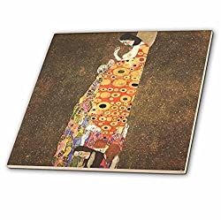 3D Rose Image of Klimt Famous Painting Hope PD US