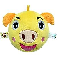 Preisvergleich für Baby-lustiges Spielzeug Baby Schöne kleine Piggy Soft Hand Rasseln Bell Kinder Baby Funnny Crawlen Bell Ball Spielzeug Geschenk