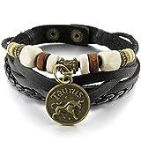 Best SODIAL(R) Mens Bracelets - Horoscope Bracelet - SODIAL(R)Alloy Leather Bracelet Bangle Cuff Review