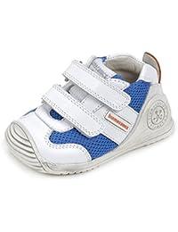 Biomecanics 172148, Zapatillas Bebé-Niño, Varios Colores (Blanco / Azul Eléctrico), 21 EU