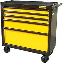 Stanley FatMax Werkstattwagen / Werkzeugwagen, Transmodul System (mit 5 Schubladen, Zentralverriegelung, bis 635 kg Gesamtbelastbarkeit, Schubladendämpfer, Gummimatten in den Schubladen) FMHT0-74027