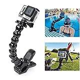 acxopt Backen Flex Klemmhalterung verstellbar Hals für GoPro Hero 43+ 3SJCAM SJ4000Xiaomi Yi Action Kamera