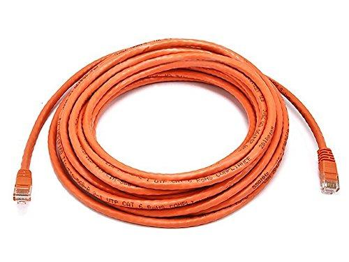 Monoprice 102389 Ethernetkabel (24 AWG, Cat6, 500 MHz, Crossover), Grau Orange 25ft -