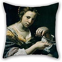 beautifulseason Pintura al óleo Lorenzo Lippi – Saint Agatha Navidad pillowcover Mejor para Dibujo habitación Familia