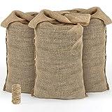 Gardening-Naturally Grand sac en toile à pommes de terre en toile de Jute 50 kg (Pack de 5)
