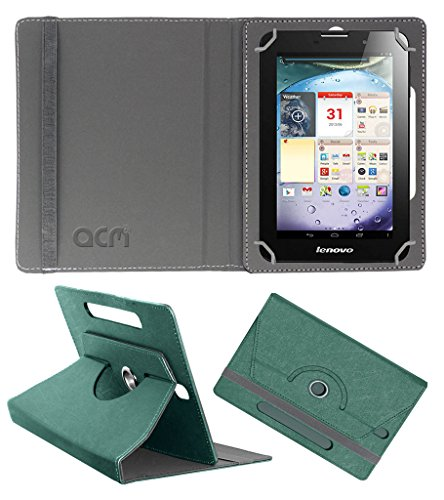 Acm Designer Rotating Leather Flip Case for Lenovo Ideapad A3000 Cover Stand Turquoise  available at amazon for Rs.169
