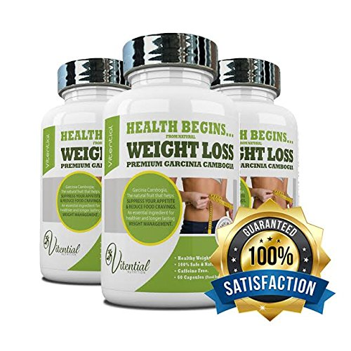 Garcinia Cambogia for Weight Loss Gold Standard 1000mg CAFFEINE FREE 60 Capsules (30 Day Supply)