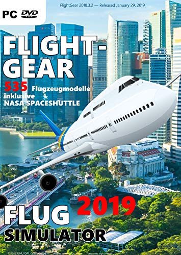 Flight Gear 2020 Flugsimulator 535 Flugzeugmodelle Windows FlightGear Flugsimulation Inklusive NASA Spaceshuttle PC Game