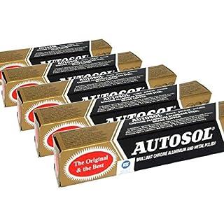 Autosol 5pk Metal Polish (75ml x5) Chrome Aluminium Stainless Steel Brass Copper etc