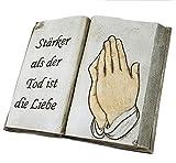 """Scheulen Deko Buch """"Stärker als der Tod ist die Liebe"""" - Grabschmuck Grab Trauer Allerheiligen"""