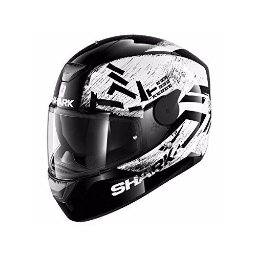 HE4006EKWKM - Shark D-Skwal Hiwo Motorcycle Helmet M Black White Black (KWK)